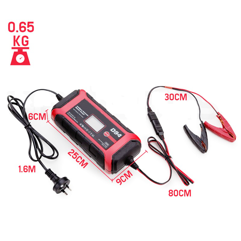 Digital micro car battery charger