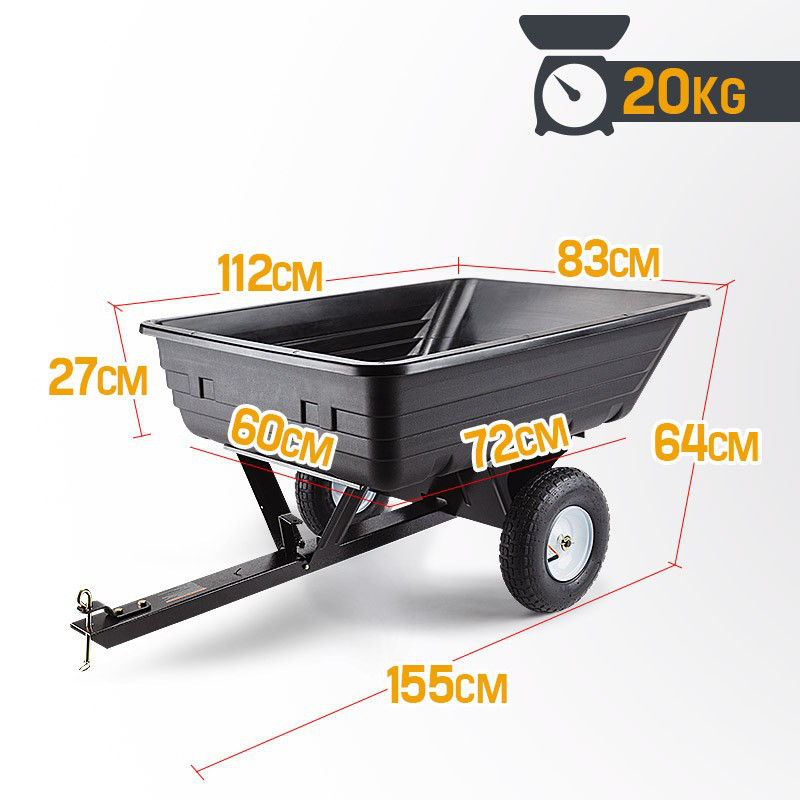 Corrugated Design Poly Dump Cart