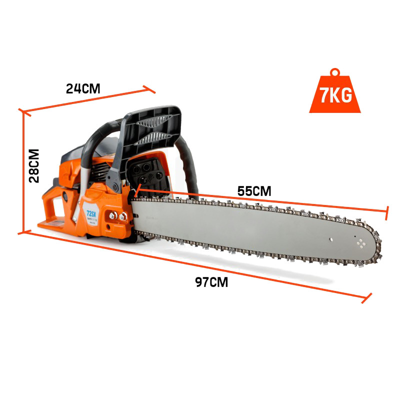 72cc E-Start Petrol Commercial Chainsaw