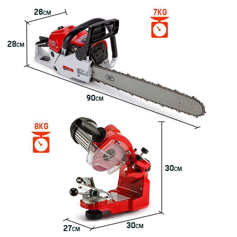 Easy Start 62cc Petrol Commercial Chainsaw