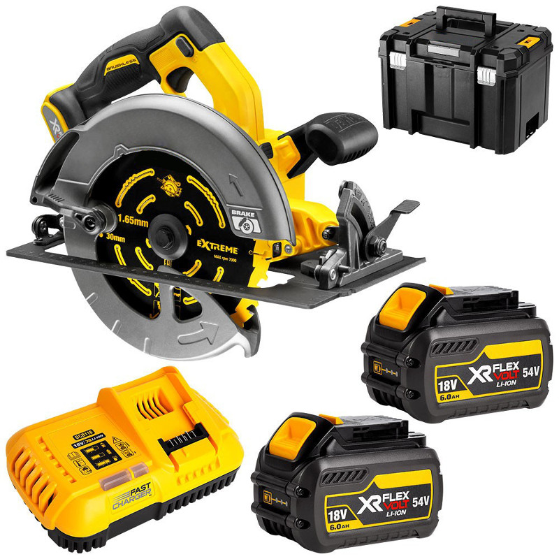 Dewalt 54V (6.0Ah) XR FLEXVOLT Brushless 184mm Circular Saw Kit